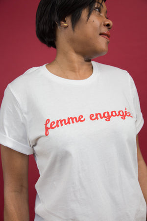 Femme Engagée Eco Tee - Rooting for Women