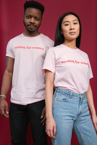 Rooting for Women Pink Tee
