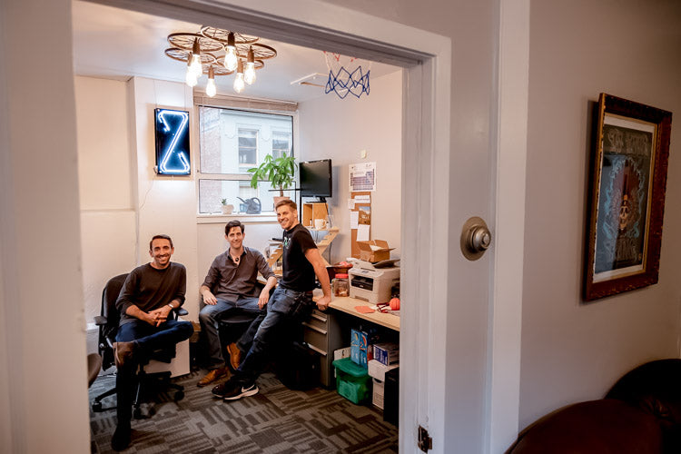 Stephen, Zack, and John in the new SF office