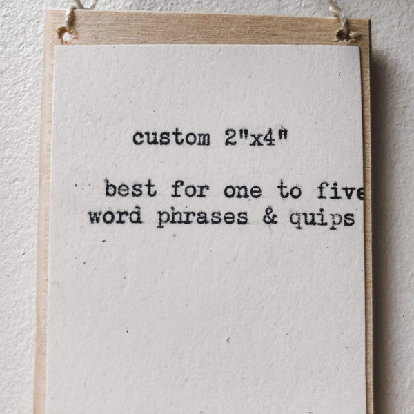 custom wall decor 2 by 4 inches - #flora & phrase#