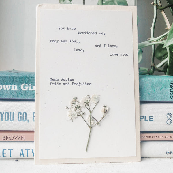jane austen, you have bewitched me - #flora & phrase#