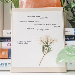 louisa may alcott, take some books and read - #flora & phrase#