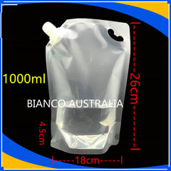 1L Stand Up Spout Pouch (All Clear /  Gloss White / Matte Silver )