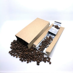 500g Side Gusset Coffee Pouch, Kraft Paper, Foil Lined, With Valve