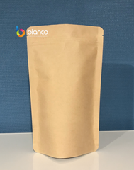 1KG Stand Up Pouch, Kraft Paper, Foil Lined, With Zip Lock (H335*W240+B120 mm)