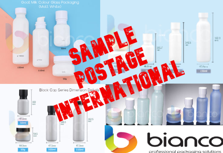COSMETICS PACKAGING SAMPLES POSTAGE