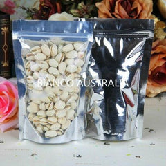 1KG Stand Up Pouch, Clear/Silver, With Zip Lock, No Valve (H335*W240+B120 mm)