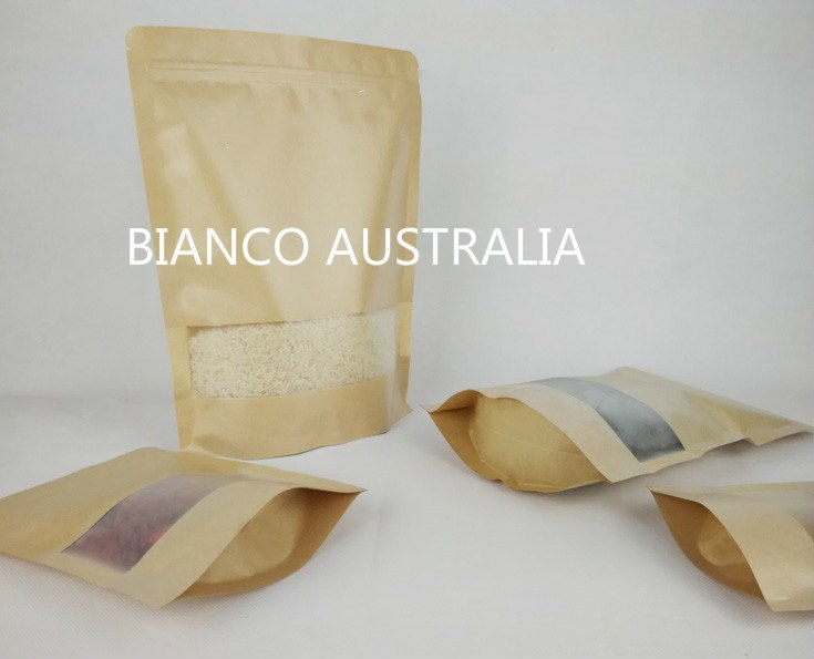 3 Side Sealed Bags, Kraft Paper, Foil Lined, NO Zip, Various Sizes
