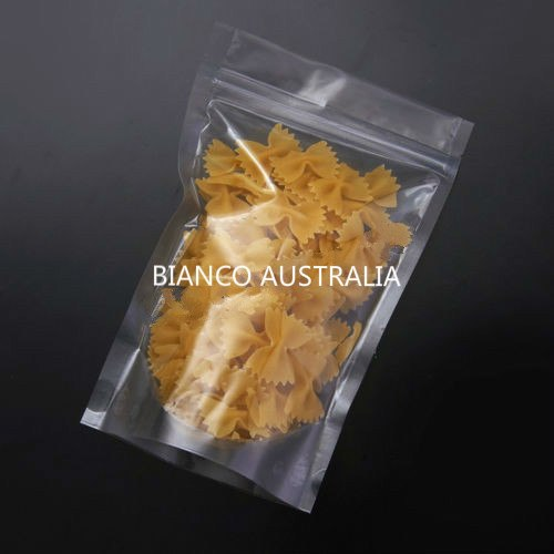 250g Stand Up Pouch, All Clear, With Zip Lock, No Valve (H230*W160+B90 mm)