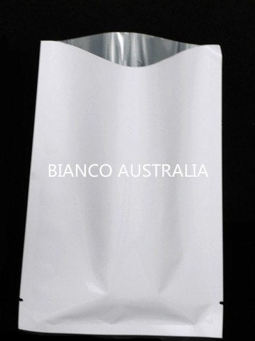 3 Side Sealed Bags, Gloss White, Foil Lined, NO Zip, Various Sizes