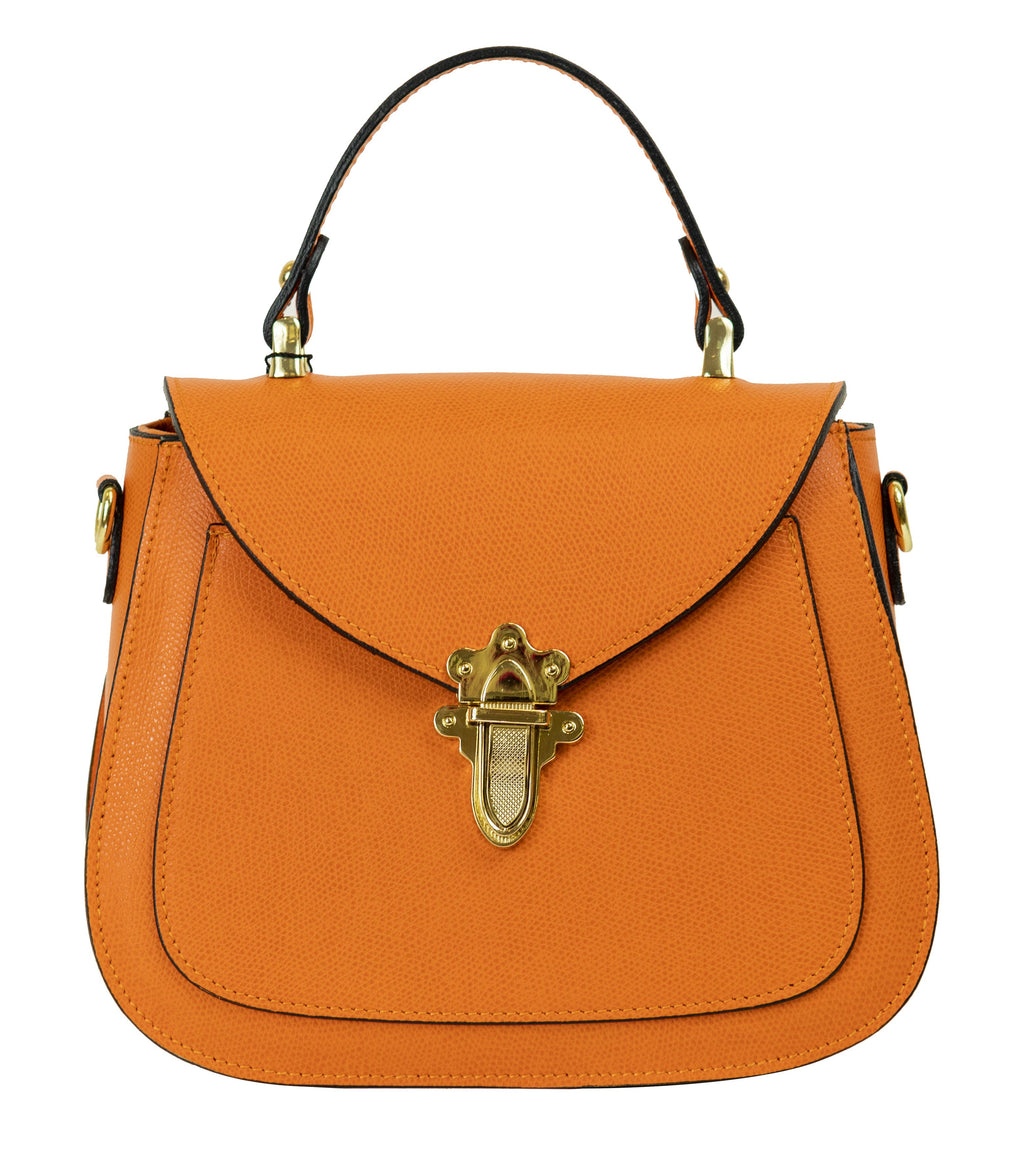 Elise Small Satchel Handbag - Orange