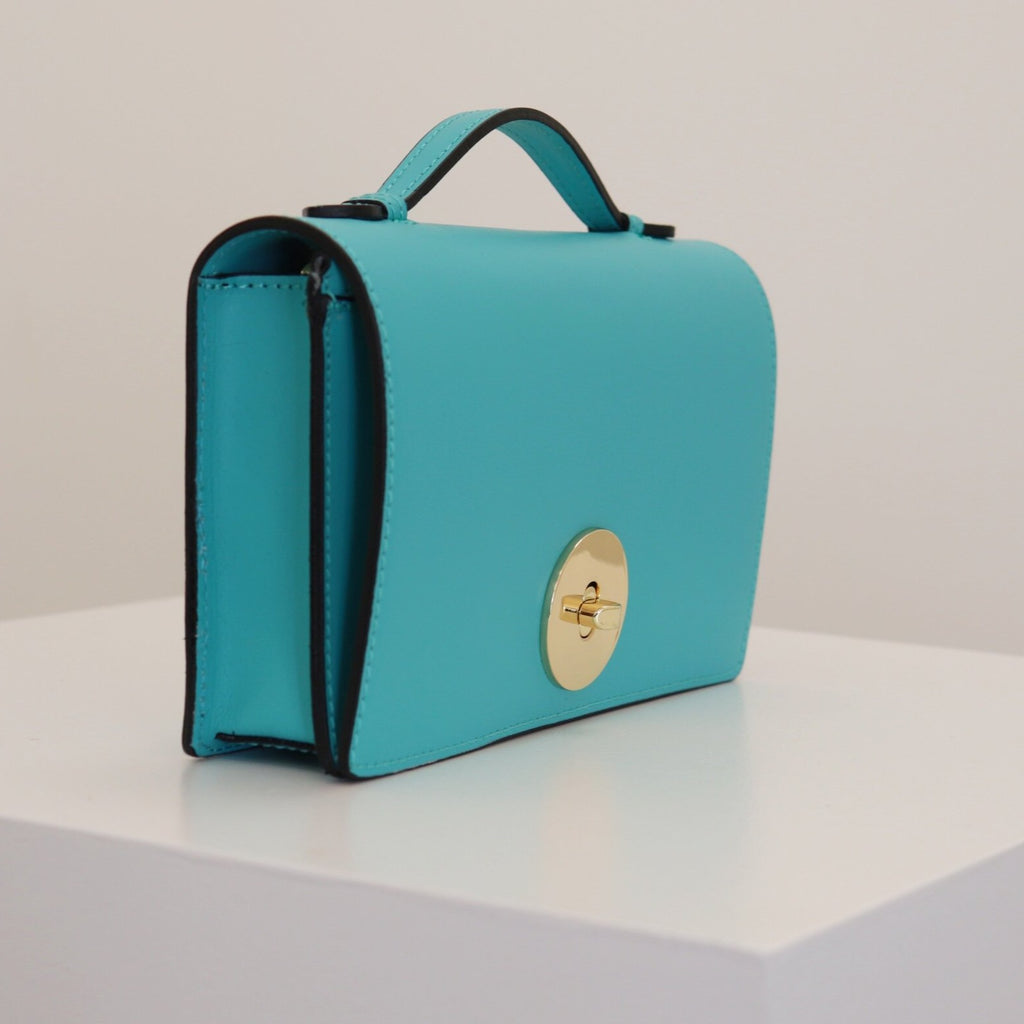 The Rosetta Crossbody Clutch Bag - Turquoise