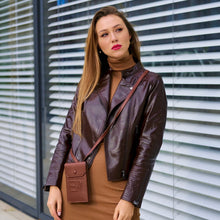 Load image into Gallery viewer, 'Michelle' Leather Jacket - Dark Chocolate