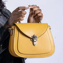 Load image into Gallery viewer, Elise Small Satchel Handbag - Mustard