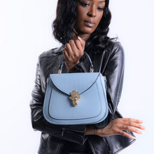 Load image into Gallery viewer, Elise Small Satchel Handbag - Powder Blue
