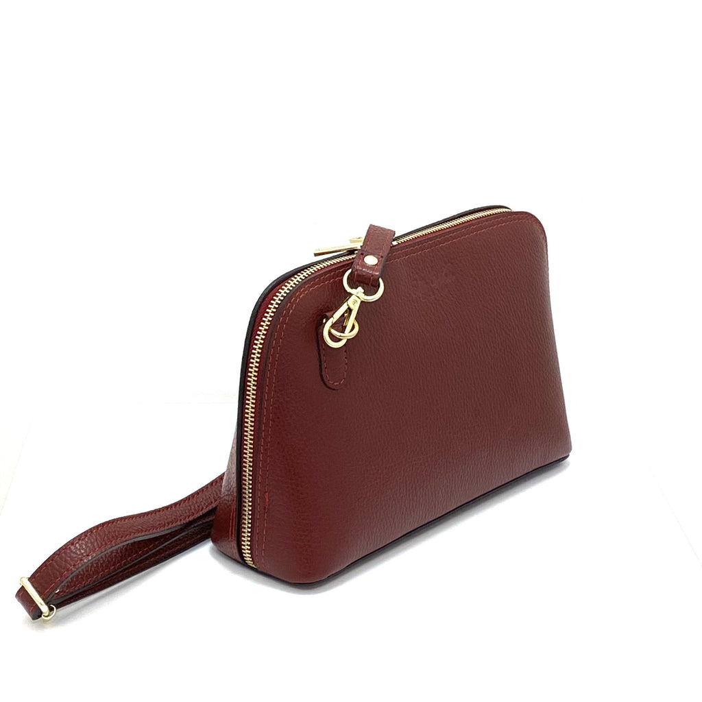 Evelina Crossbody Bag - Burgundy Red