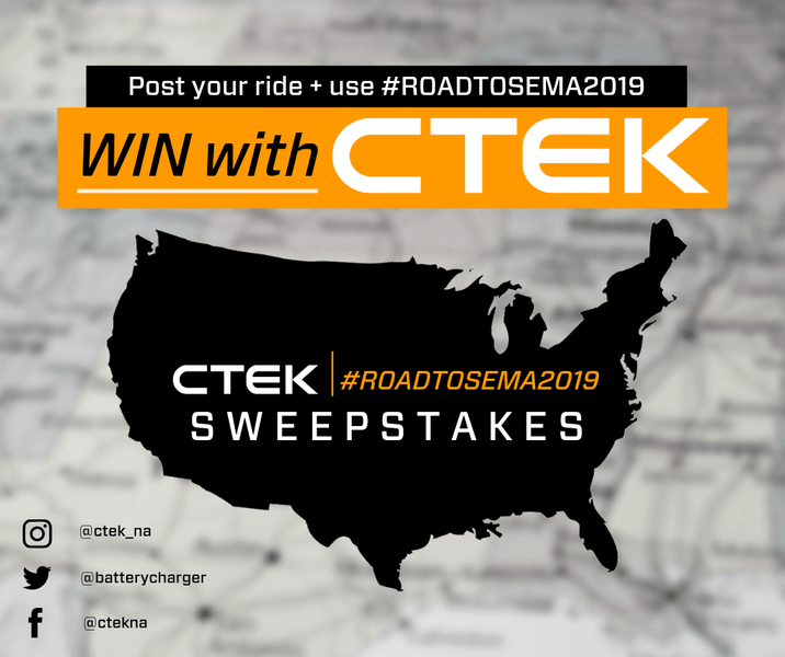 CTEK Roadtrip Motors Toward SEMA