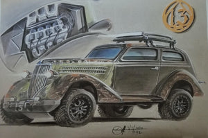 Ludwin Converts 1936 Ford Sedan Into Overland 4-Wheel Drive Vehicle