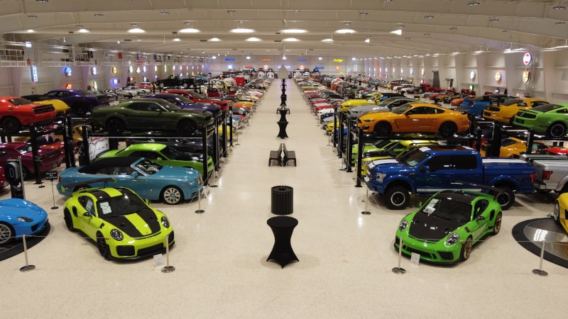 Interior showroom of the American Muscle Car Museum