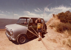 Aaron Hagar and Uncle with Mini Cooper