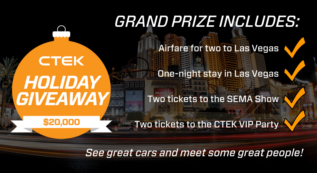 Grand Prize - CTEK $20K Holiday Giveaway