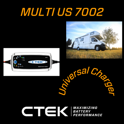 Multi US 7002 Universal Charger with Ctek logo and RV