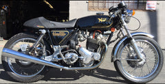 Black Norton Commando Motorcycle