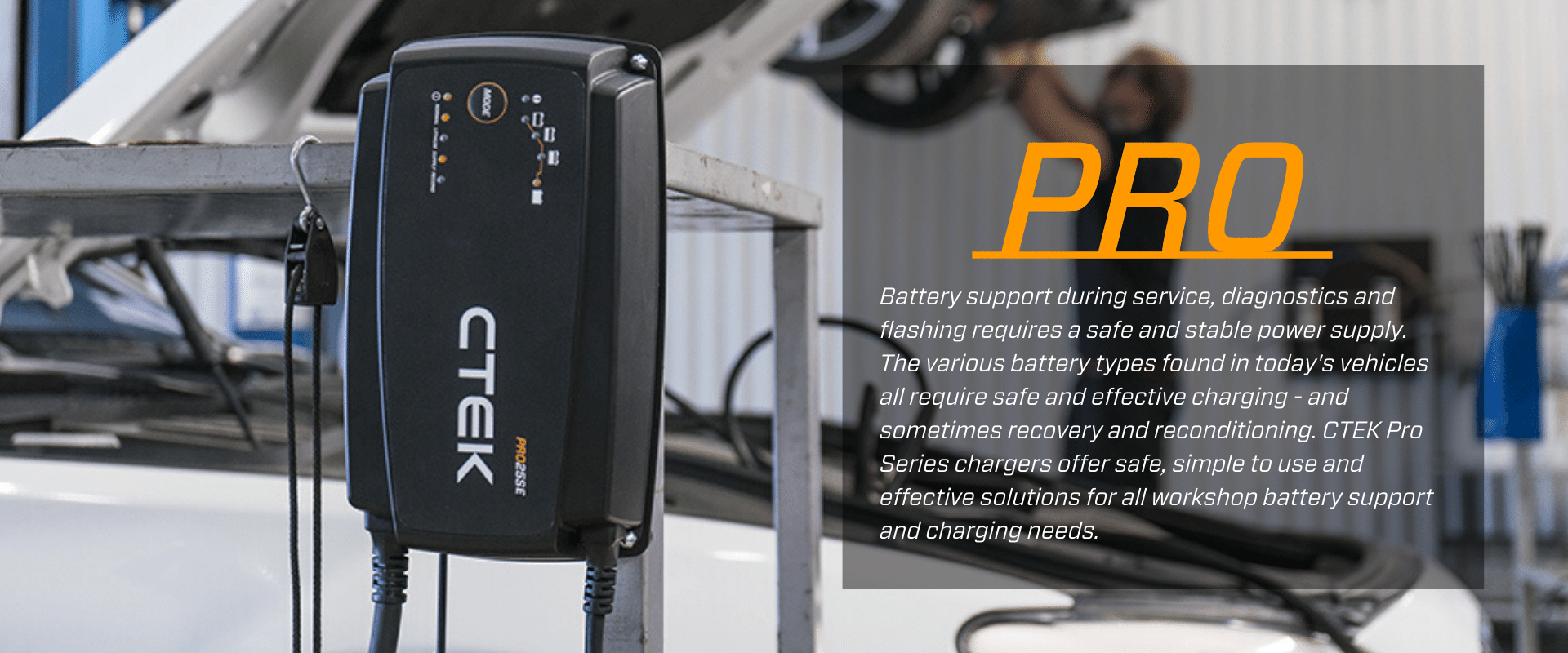 CTEK Pro Series Battery Chargers for Power Management