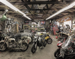 Interior of Rat Runners Garage