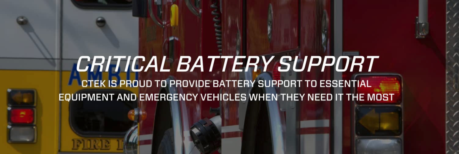 Emergency Vehicles, Essential Vehicles battery charging