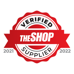 THE SHOP Verified Supplier logo in red