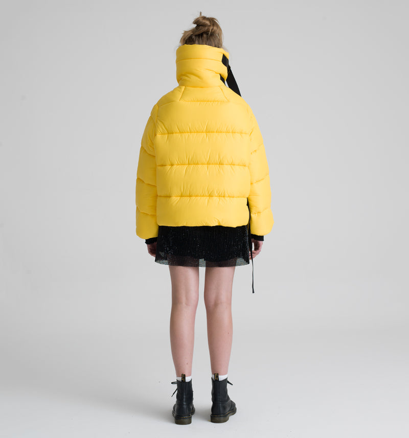 Oregon yellow short down jacket