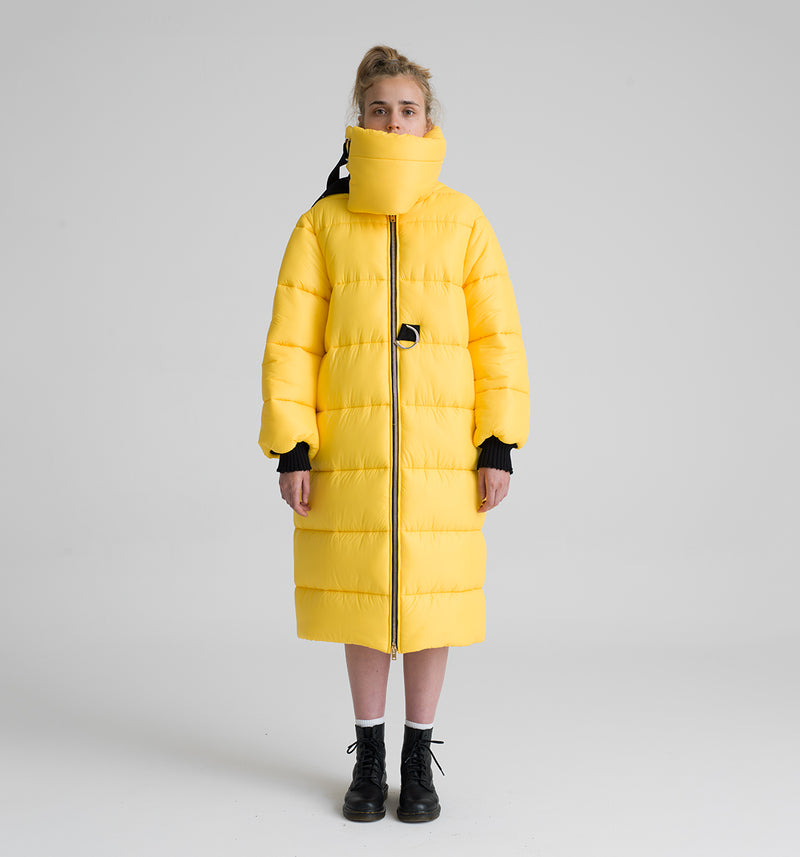 OREGON YELLOW LONG DOWN JACKET
