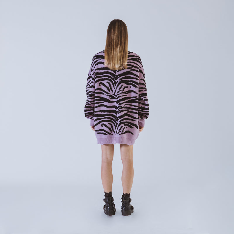 Letitia lilac long sweater