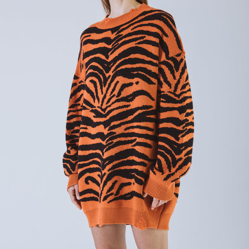 Letitia orange long sweater