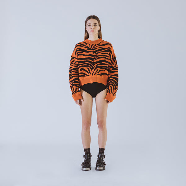Marianne orange short sweater