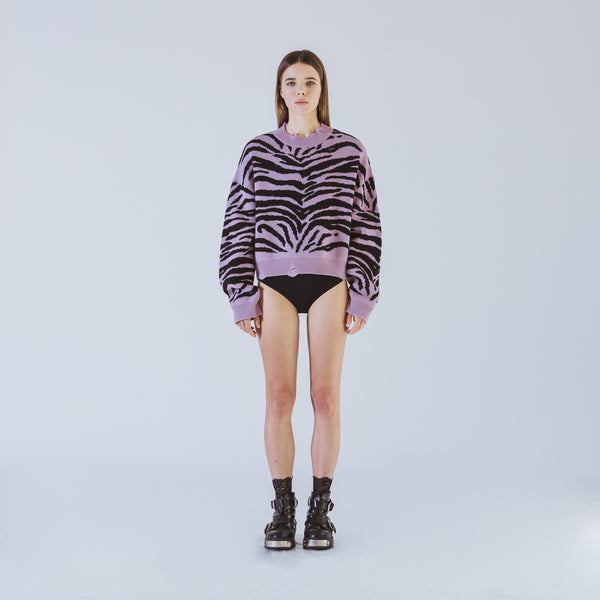 Marianne lilac short sweater