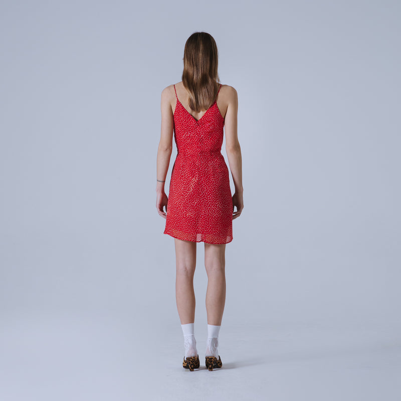 Nancy short dress in dotted silk georgette | Limited Edition