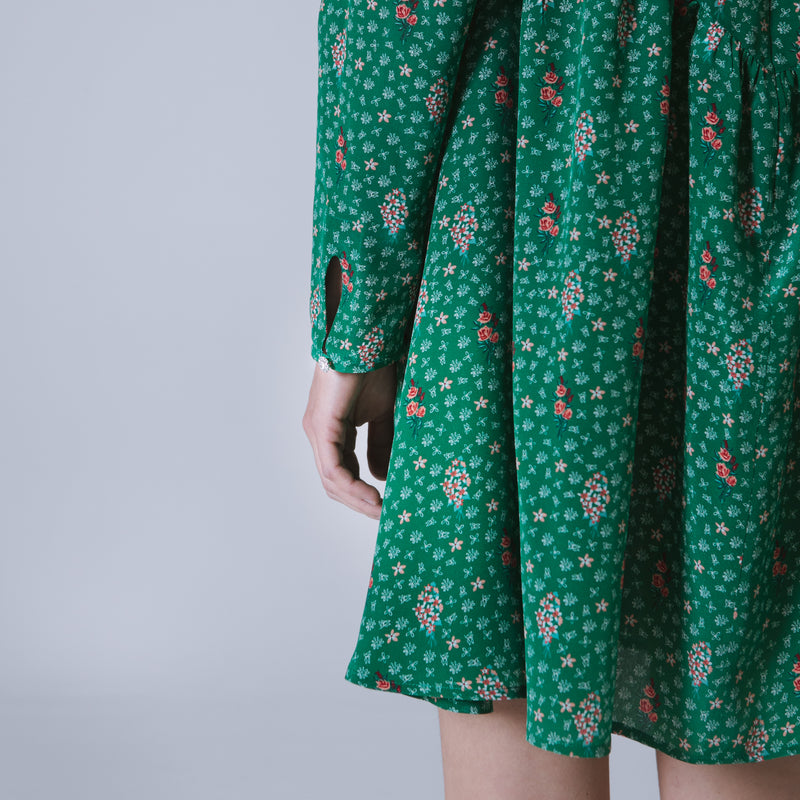Oxford short dress in floral-print silk crêpe de chine | Limited Edition