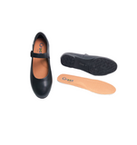 Womens Black Strap Shoes