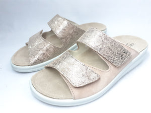 Womens Pink Slip-On Sandals