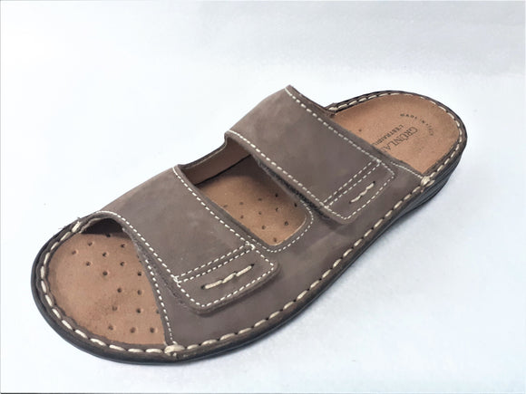 Unisex Brown Leather Sandals