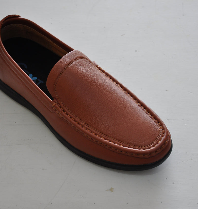 Mens Brilliant Brown Loafers