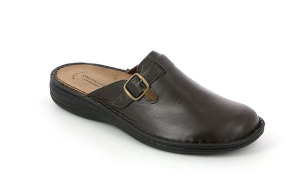 Mens Italian Brown Slip-Ons