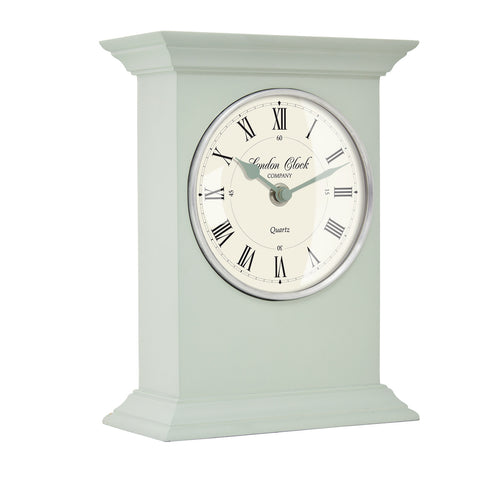 london-clock-company-william-sage-green-wood-mantle-clock-23cm