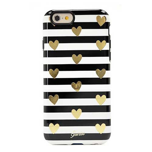 Sonix Inlay for iPhone 6/6S - Heart Stripe Gold