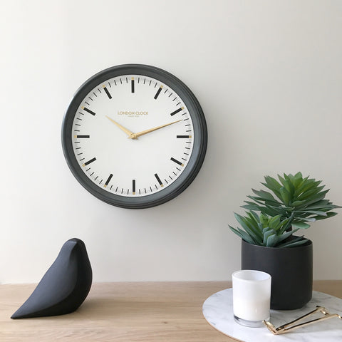 HATTON METAL WALL CLOCK 37CM BY LONDON CLOCK COMPANY
