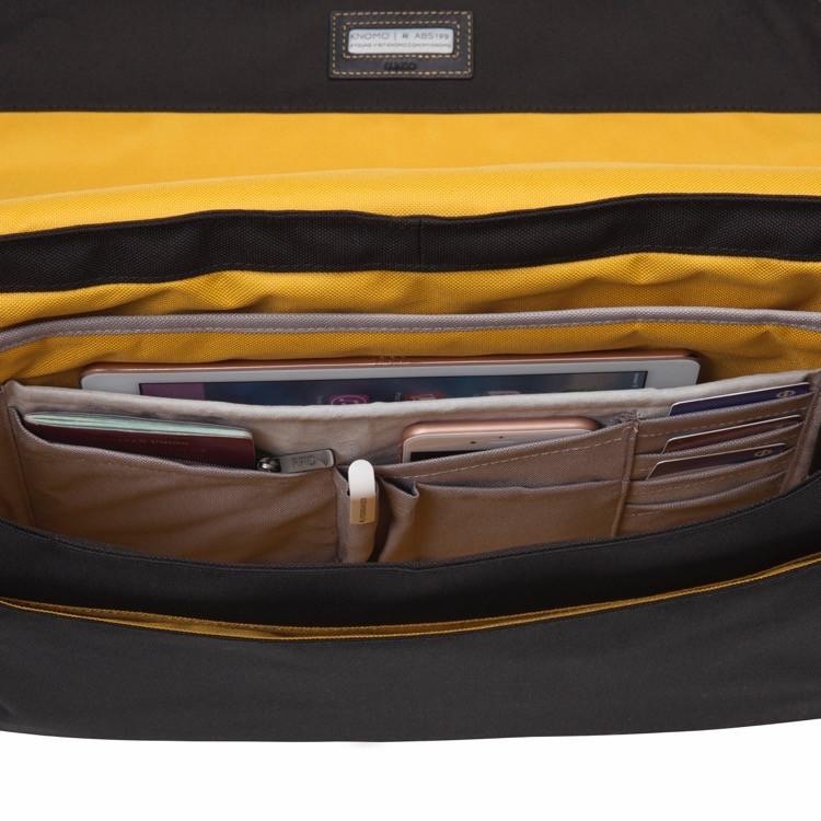 "Knomo Bungo 15.6"" Expandable Messenger Bag for Laptop or Tablet"