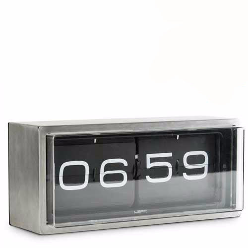 Amazing Wall Clock   Leff Brick Flip Clock 24 Hour   Black Nice Ideas
