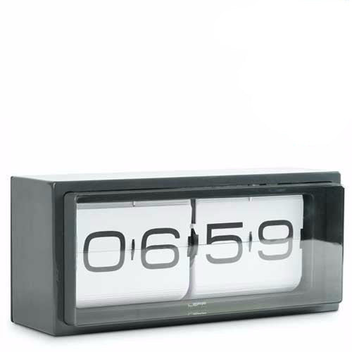 Beautiful Wall Clock   Brick Flip Clock 24 Hour Grey   Leff Design Ideas